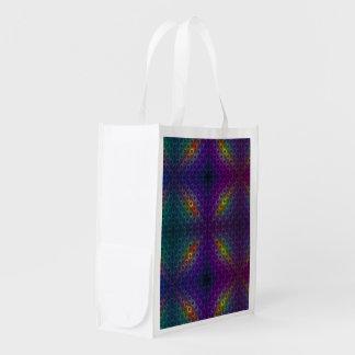 Sac Réutilisable Lumières de disco de fractale de Bubblewrap