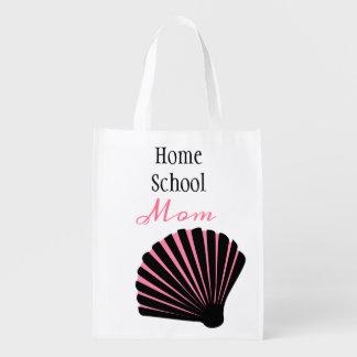 Sac Réutilisable Maman rose et noire de Homeschool de coquillage
