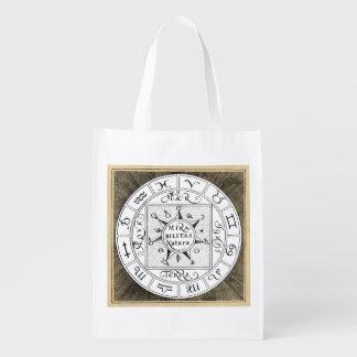 Sac Réutilisable Mandala de symboles de zodiaque et de planète