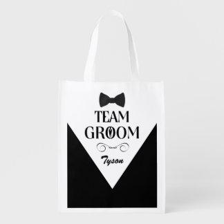 Sac Réutilisable Marié d'équipe - sacs faits sur commande de cadeau