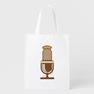 Sac Réutilisable Microphone vocal d'artiste