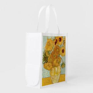 Sac Réutilisable MIT 12 Sonnenblumen de Stilleben de Vincent van