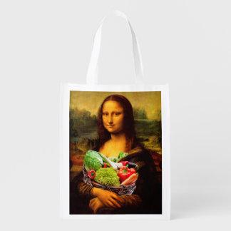 Sac Réutilisable Mona Lisa aime des légumes