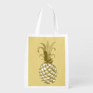 Sac Réutilisable Or ID239 d'ananas