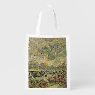 Sac Réutilisable Paysage d'automne de Vincent van Gogh |, 1890