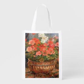 Sac Réutilisable Pierre géraniums de Renoir un   dans un bassin de