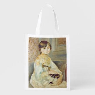 Sac Réutilisable Pierre un Renoir   Julie Manet avec le chat