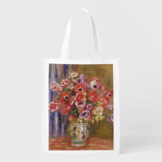 Sac Réutilisable Pierre un vase à Renoir   de tulipes et d'anémones