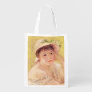 Sac Réutilisable Pierre une femme de Renoir   dans un chapeau de
