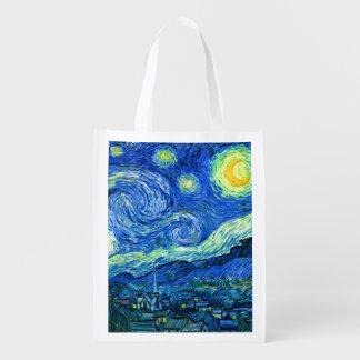 Sac Réutilisable PixDezines Van Gogh/nuit étoilée