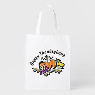 Sac Réutilisable Récolte de thanksgiving de chute