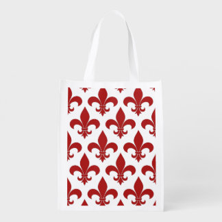 Sac Réutilisable Rouge de Fleur de lis French