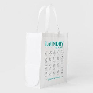 Sac Réutilisable Sac de blanchisserie d'aide-mémoire de