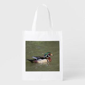 Sac Réutilisable Sac d'épicerie réutilisable de canard de natation