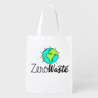 Sac Réutilisable Sac d'épicerie réutilisable de rebut zéro