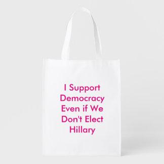 Sac Réutilisable Soutenez la démocratie même si nous n'élisons pas