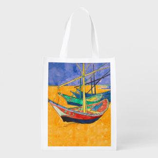 Sac Réutilisable Van Gogh peignant les bateaux célèbres