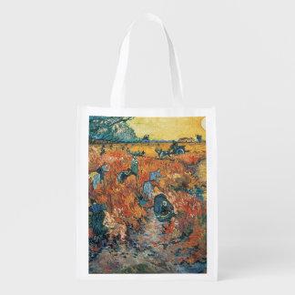 Sac Réutilisable Vignobles de rouge de Vincent van Gogh | chez
