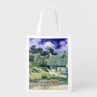 Sac Réutilisable Vincent van Gogh | a couvert des cottages de
