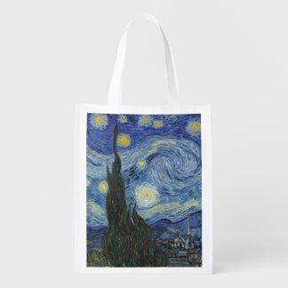 Sac Réutilisable Vincent van Gogh | la nuit étoilée, juin 1889