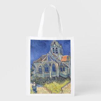 Sac Réutilisable Vincent van Gogh | l'église à l'Auvers-sur-Oise