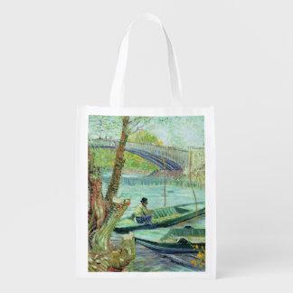 Sac Réutilisable Vincent van Gogh | pêchant au printemps