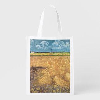Sac Réutilisable Wheatfield de Vincent van Gogh | avec des gerbes,