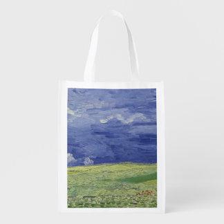 Sac Réutilisable Wheatfields de Vincent van Gogh | sous le nuage