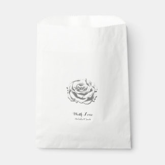 Sac rose de faveur de mariage de cru élégant sachets en papier