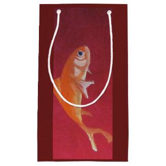 sac rouge de cadeau de poissons