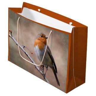 Sac rustique de cadeau de Robin