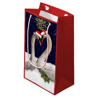 Sac saisonnier de cadeau de Noël de cygnes