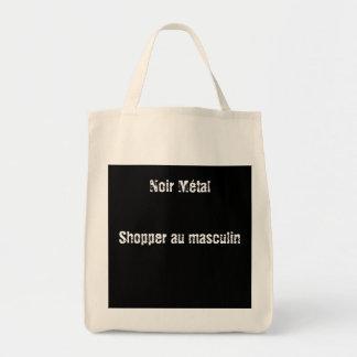 Sac shopper Noir Métal