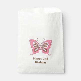 Sachets En Papier Âge de coutume de joyeux anniversaire de papillon