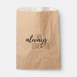 Sachets En Papier Amour rustique vous citez épouser la douche