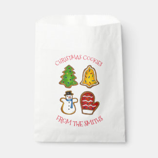 Sachets En Papier Arbre fait maison de mitaine de Bell de biscuits