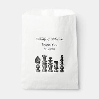 Sachets En Papier Art de cru de pièces d'échecs