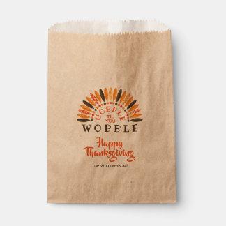 Sachets En Papier Avalez jusqu'à ce que vous thanksgiving de shimmy