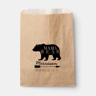 Sachets En Papier Baby shower rustique de maman Bear |