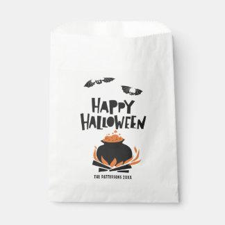 Sachets En Papier Battes et chaudron Halloween heureux