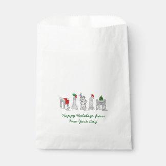 Sachets En Papier Bonnes fêtes Noël de NYC New York City
