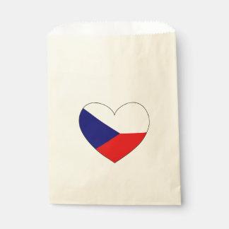 Sachets En Papier Drapeau de République Tchèque simple