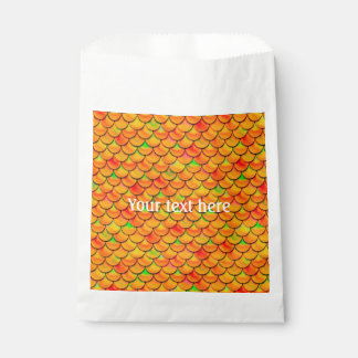 Sachets En Papier Échelles oranges et vertes de Falln