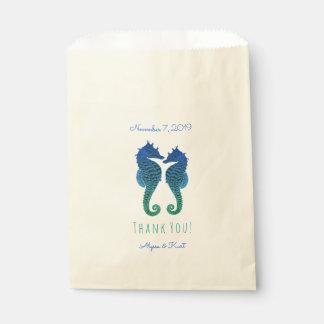 Sachets En Papier Faveur de mariage de plage de vert bleu
