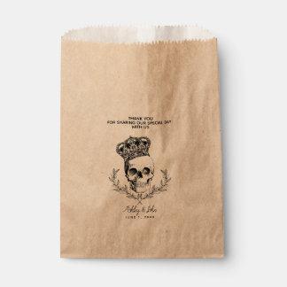 Sachets En Papier Faveur royale de mariage de crâne