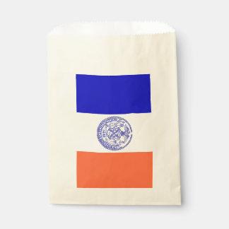 Sachets En Papier Favorisez le sac avec le drapeau de New York City,