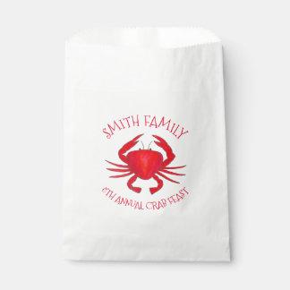 Sachets En Papier Fruits de mer durs rouges du Maryland Shell de