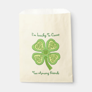 Sachets En Papier Irlandais chanceux celtique Patricks du vert
