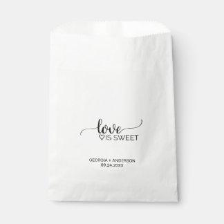 """Sachets En Papier La calligraphie noire et blanche """"amour est"""""""