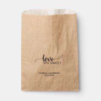 """Sachets En Papier La calligraphie rustique """"amour de Papier"""